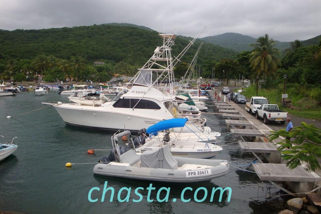 Bateau pour la pêche aux gros à Deshaies