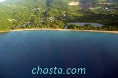 Vue aérienne de la plage de grande anse