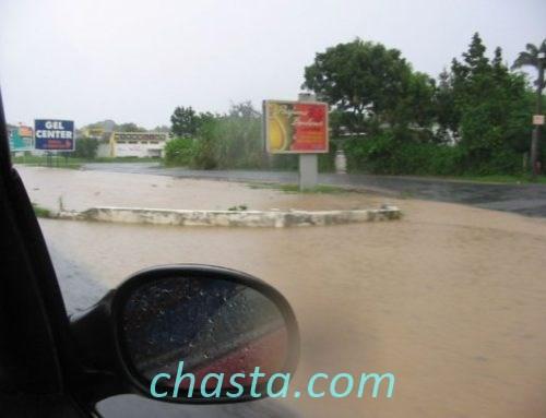 Fortes pluies aujourd'hui a Deshaies