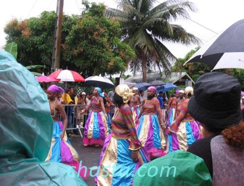 Défilé carnavalesque à Deshaies