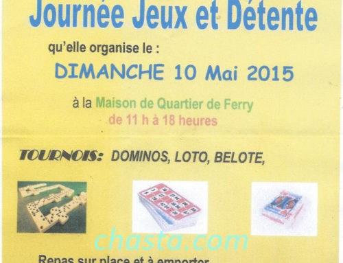 Journée Jeux et Détente 10 mai 2015 Ferry Deshaies